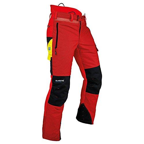 """Pfanner 101761/2XL Schnittschutzhose """"Ventilation"""" Größe XXL in rot / schwarz"""