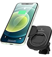Sinjimoru Car Phone Holder Air Vent, Rotatory Connected Car Phone Mount with 15W Fast Wireless Ch...