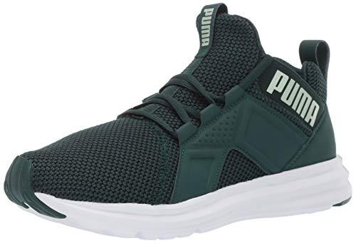 PUMA Women's Enzo Sneaker, Ponderosa Pine-fair, 8.5 M US (Puma Green Sneakers)