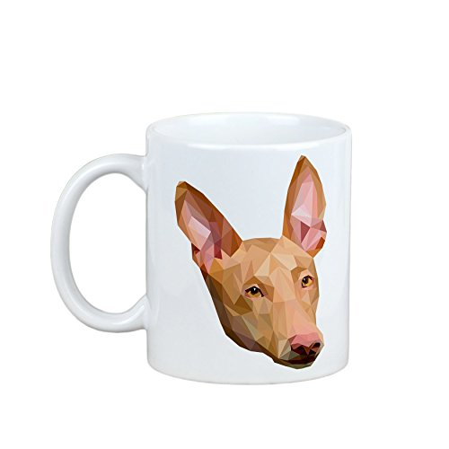 Pharaoh Hound, mug with a dog, cup, ceramic, new geometric collection