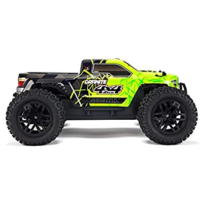 ARRMA 1/10 Granite Mega 4x4 RC Monster Truck 4WD RTR with 2.4Ghz Spektrum Radio, 7C 2400mAh NiMH Battery & Charger, Green/Black (ARA102714T1): Toys & Games
