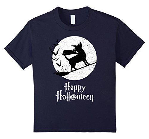 Kids Witch TEACUP CHIHUAHUA Dog T-shirts Halloween Costume 12 (Teacup Costume)