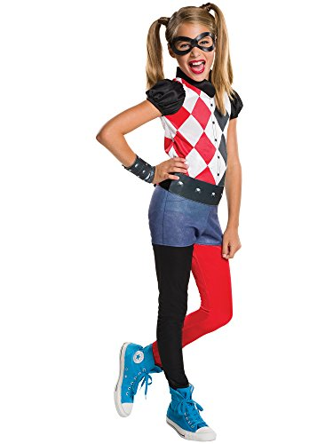 Rubie's Costume Kids DC Superhero Girls Harley Quinn Costume, Large ()