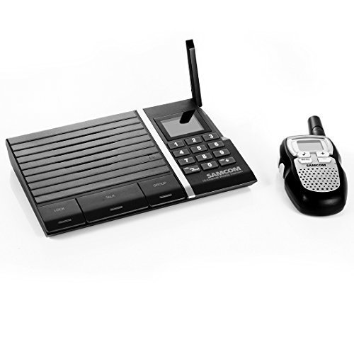 Digital Wireless Intercom (Samcom Digital Wireless 10- Channel Intercom with Small Walkie Talkie for Home and Office Pack of 2)