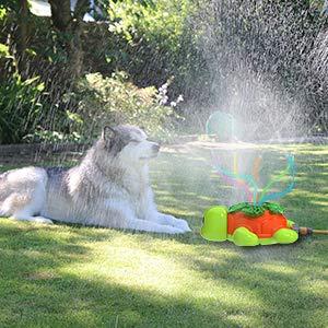 Kiztoys Juguete de Rociador,Aspersor de Tortuga para NiÑos, Jardín de Verano Juguete, Juguetes para Rociadores de Agua para CÉsped de JardÍn, Juguete para JardÍn AI Aire Libre