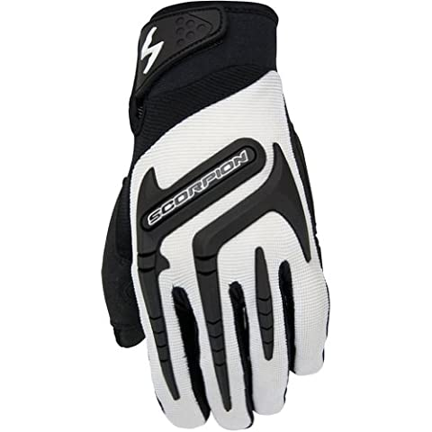 Scorpion Skrub Women's Textile Sports Bike Racing Motorcycle Gloves - White / X-Small - Textile Motorcycle Gloves