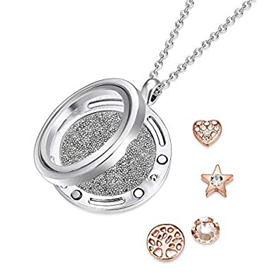 2453a67ab Mestige Fresh Start Dual Floating Charm Necklace with Swarovski® Crystals,  Gifts Women Girls