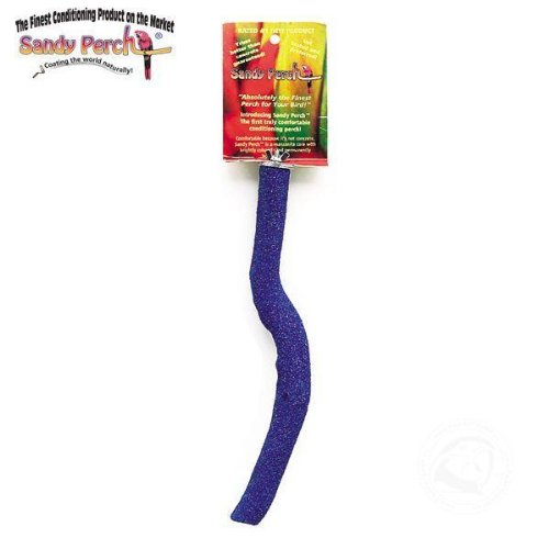 Parrotopia Sandy Manz Bird Perch Size Small 12in Assorted Colors by Parrotopia