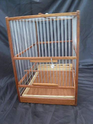 HandCrafted Big Wooden Bird Cage //Slide Out Tray, Plexiglas