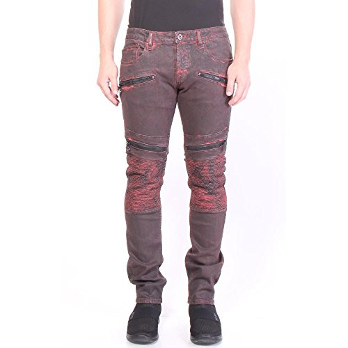 Cult of Individuality Greaser Moto Slim Straight Jeans 36/34 Rust Men]()