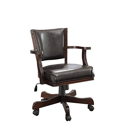 HOMES: Inside + Out Thatcher Contemporary Height Adjustable Game Chair, Cherry