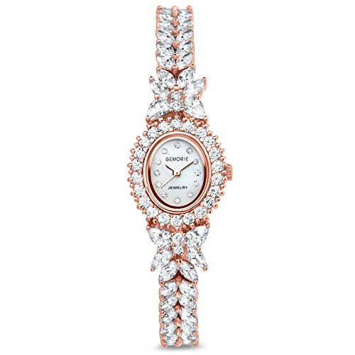 Gemorie Women Fashion Watch with Jewelry Band in Rose Gold Plating(129059-RG) from Gemorie