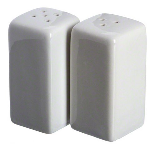 American Metalcraft (CSPS3) Square Ceramic Salt & Pepper Shakers (Set of 2)