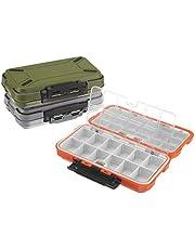 JK-2 Caja de Aparejos de Pesca de plástico de Doble Capa Caja de señuelo Organizador de Cebo de Anzuelo de Pescado