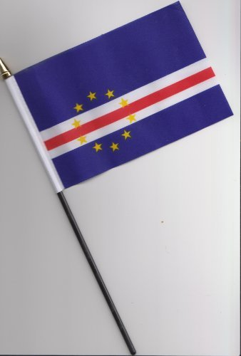 Cape Verde Islands Hand Flag 25cm (Cape Verde Islands Flag)
