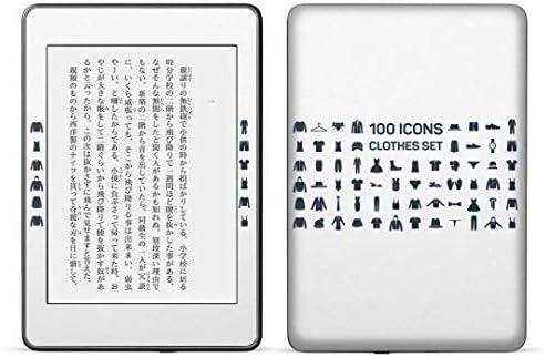igsticker kindle paperwhite 第4世代 専用スキンシール キンドル ペーパーホワイト タブレット 電子書籍 裏表2枚セット カバー 保護 フィルム ステッカー 015585 服 アイコン バッチ