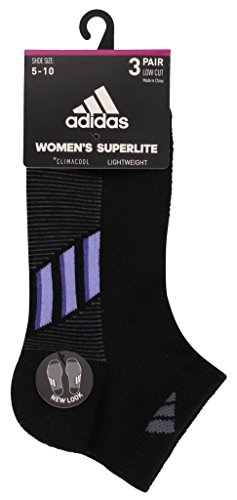 adidas Women's Climacool Superlite Low Cut Socks (3-Pack) by adidas (Image #5)