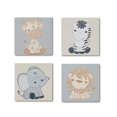 Babyzimmer Bilder Set Kinderzimmer Bilder Dschungeltiere Bilder Set ...