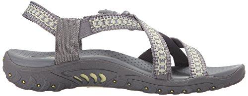 Sandal 5 Da Donna Kooky Reggae Flat M Giallo Grigio Us Amp qIxEx8wtf