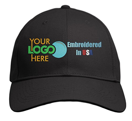 Custom Hat, Embroidered. Your Own Logo. Adjustable Back. Curved Bill -