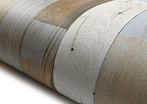 - ROSEROSA Peel & Stick Wood Panel Backsplash Slice Scrap Wood Wallpaper Self-adhesive Wallpaper Shelf Liner Table and Door Reform (LW451 : 2.00 Feet X 6.56 Feet)