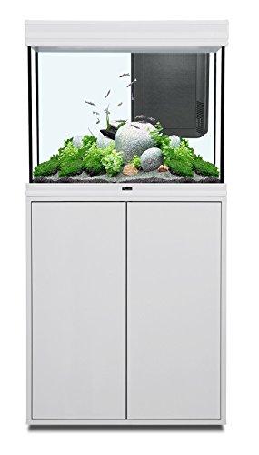 Aquatlantis Acuario + Mueble Fusion LED 228L 70 x 50 x 65 Blanco: Amazon.es: Productos para mascotas