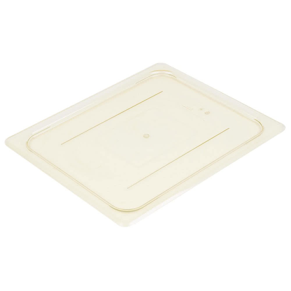Cambro 20HPC150 H-Pan Cover 1/2 size flat amber - Case of 6