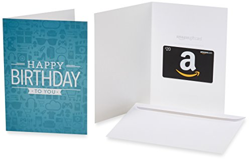 Amazon.com $20 Gift Card in a Greeting Card (Birthday Icons Design)