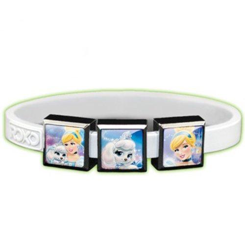 Roxo Disney's Palace Pets Cinderella 3 Charm Set with Ghostly Glow Bracelet, Small