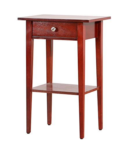 Glory Furniture Dalton G032-N, Cherry Nightstand, Side Table, 28 H x 14 W x 18 D,