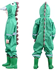Muddy Buddy Rain Suit One Piece Coverall, 3D Dinosaur Raincoat Coverall