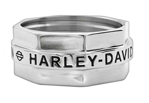Harley-Davidson Men's Ring, Stainless Steel H-D Bolt Style Ring HSR0018 (10)