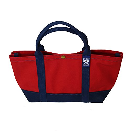 Handmade Small Sloop Tote Bag By PORT CANVAS, Made One At A Time in Maine, USA - (Red) made in Maine