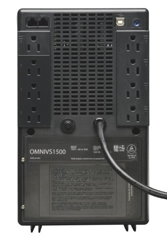 Tripp Lite 1500VA Smart UPS Battery Backup, 940W Line-Interactive AVR, Tower, USB, TEL, DSL, Ethernet (OMNIVS1500) by Tripp Lite (Image #1)