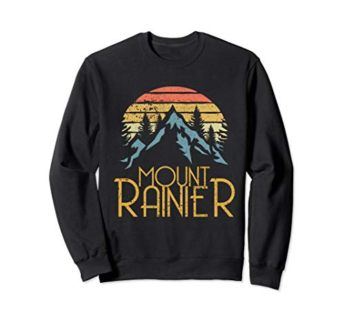 Vintage Mount Rainier National Park WA Mountains Sweat Shirt