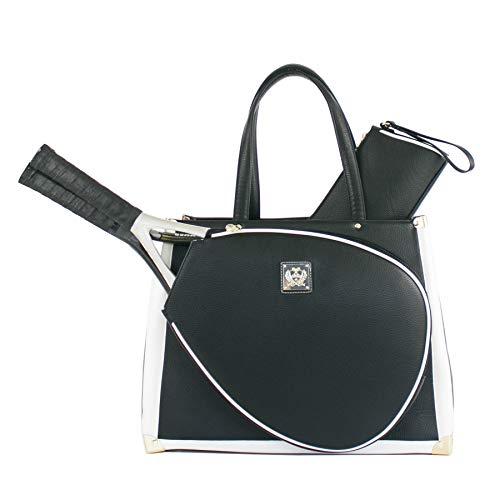 Court Couture Vintage Karisa Black Pebble Tennis Bag