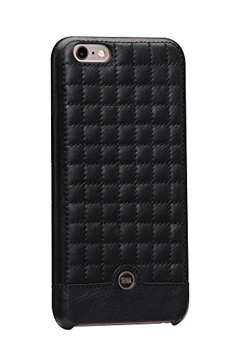 (Sena Cases Genuine Leather ISA Quilted snap on iPhone 6 Plus/6s Plus (Black / Gold))