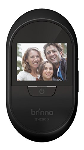 Brinno SHC500K - with Knocking Sensor- Theft Proof- Easy Install- Clear Image- Wire Free- Digital Visitor Log- Smart Home Peephole Camera, 2.7'', Black by Brinno