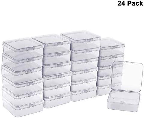 24 Pack Caja de Contenedores Cuadrado de Almacenamiento de ...