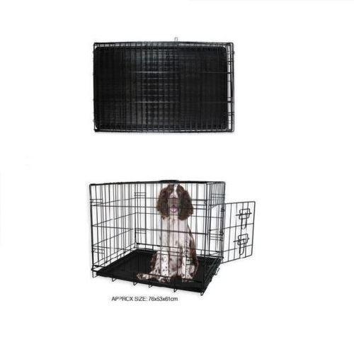 Elitezotec Jaula de Metal Negra para Perro, tamaño Mediano, 76 x ...