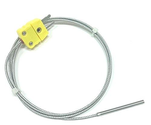 Prime Type (Perfect-Prime TL1004 K-Type Sensor Probes Metal HeadProbe for K-Type Probe Thermocouple Sensor & Meter in Temperature Range from 0 to 500 °C)