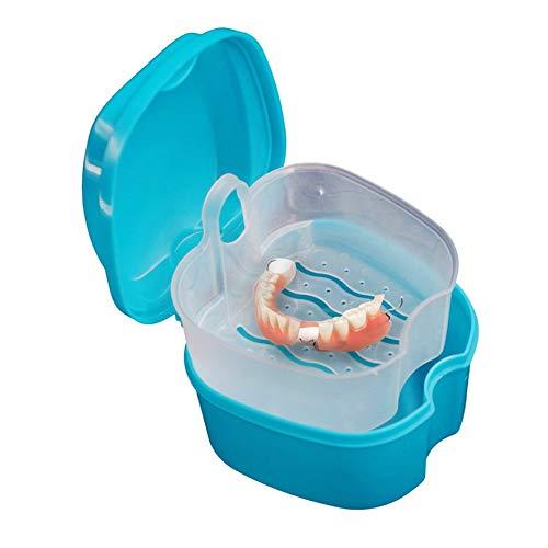 Azul RoadRoma Caja de Almacenamiento port/átil de Dientes Falsos dentales Estuche Organizador de Cuidado de la Salud Dental