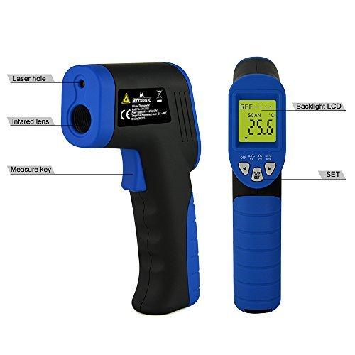 Mxson DM3995 Easy Grip Non-contact Digital Infrared Thermometer Laser Temperature Gun Temperature Deviation Function