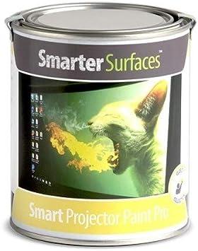 Opinión sobre Pintura Proyector Smart Pro - 6m² - Pintura para proyectar en oficinas, Clases y conferencias proyectores HD y Normales - Valor de Ganancia 1.1 y ángulo de visión de 140 Grados - Color Blanco