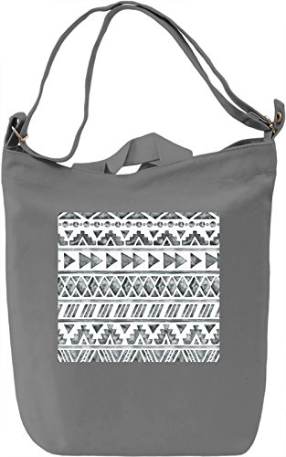 Black and White Pattern Full Print Borsa Giornaliera Canvas Canvas Day Bag| 100% Premium Cotton Canvas| DTG Printing|