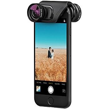 olloclip — CORE LENS SET for iPhone 8/8 Plus & iPhone 7/7 Plus — FISHEYE, SUPER-WIDE and MACRO 15x Premium Glass Lenses