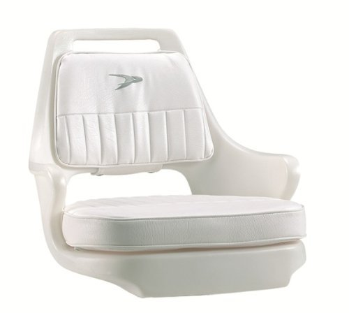 Wise 8WD015-3-710 Standard Pilot Chair with Cushions and Mounting Plate, White (Renewed) (Boat Chair Wise Pilot)