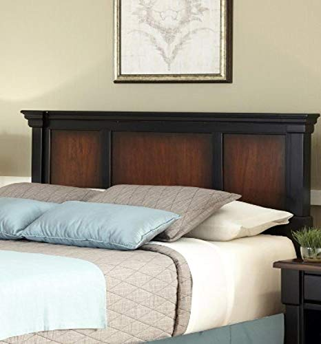 Home Styles Aspen Rustic Cherry Finish King Bed Headboard with Frame Moldings and Carved Posts