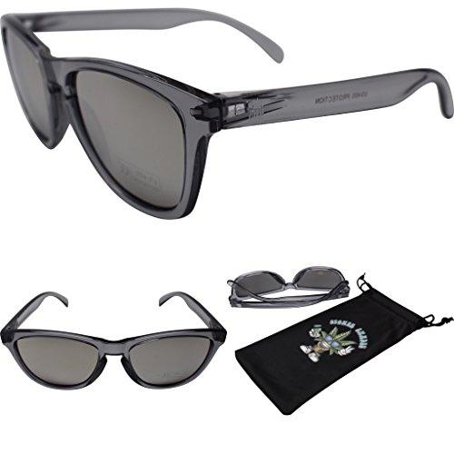 Stoner Shades Unisex Mirror Lens Sunglasses For Men/Woman (Transparent Grey, Silver)