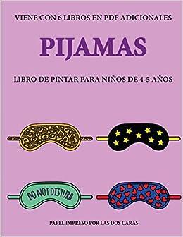 Libro de pintar para niños de 4-5 años Pijamas : Este libro ...